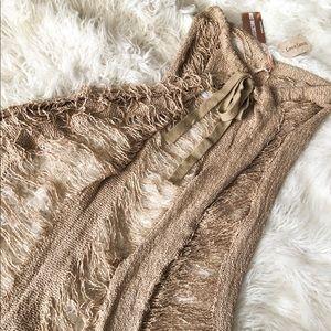 Tan swim cover up skirt